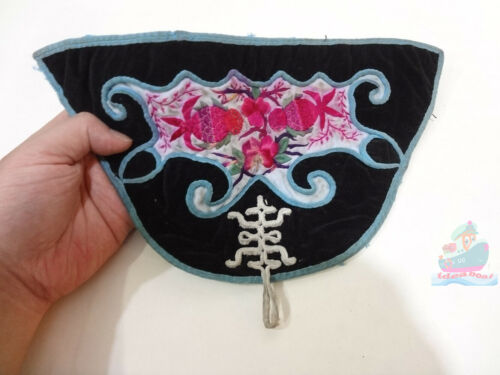 38x15.5cm Chinese ethnic minority women's Hand Embroidery floral piece