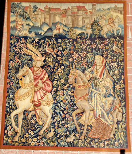 A 19th Century Medieval Style Mille Fleur Tapestry