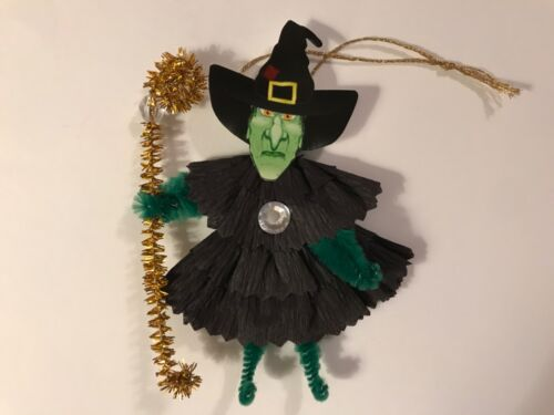 Paper doll Vintage Halloween ornaments, Witch item# 43