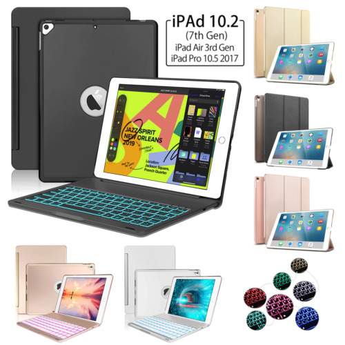 """Backlit Aluminum Keyboard Stand Cover For iPad 10.2"""" 7th Gen 2019 Pro 10.5 Air 3"""