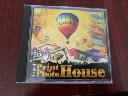 Corel Print & Photo House (Windows 95) PC CD Rom - Excellent Like New Condition