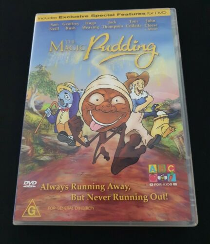 The Magic Pudding DVD Sam Neil Hugo Weaving John Cleese Toni Collette REGION 4