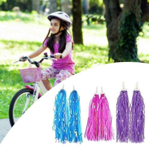 Kid Bicycle Ribbon Bike Scooter Streamers Sparkle Tassel Riband Decor X1q4