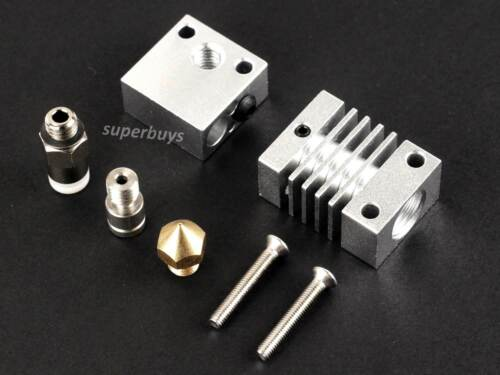 Creality CR-10 Hotend 3D Printer Titanium 0.4mm Nozzle Kit Fitting Metal Part