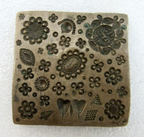 Antique Old Bell Metal Bronze Multi Figure Unique Jewelry Die Mold Seal Stamp
