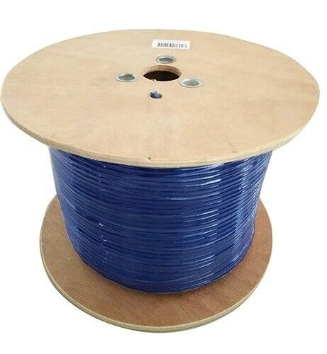 8Ware Cat6A External Cable Roll 350m Blue Bare Copper Twisted Core PVC Jacket