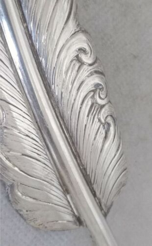 PENNA CALAMAIO ARGENTO 800 SOLID SILVER FEATHER QUILL PEN LITERARY AWARD