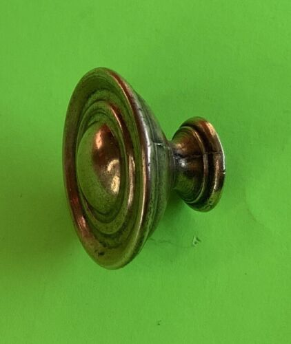 """1 1/4"""" Dia.Antique Hardware Cabinet knob Brass drawer pull Colonial Duncan Phyfe"""