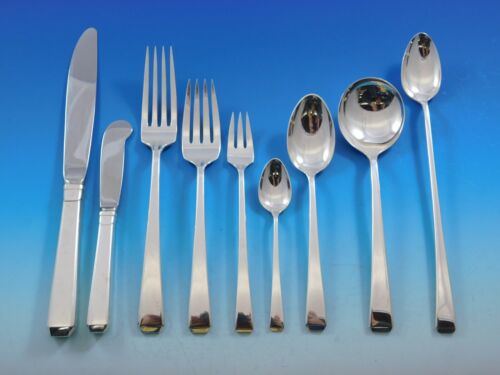 Craftsman by Towle Sterling Silver Flatware Set for 12 Service 124 pieces Huge!