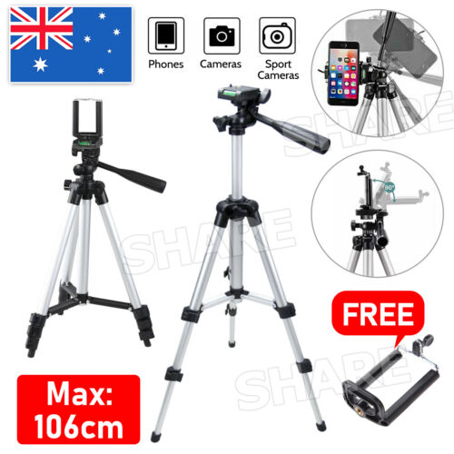 Adjustable Camera Tripod Mount Stand + Holder for iPhone 11 Pro XS Samsung S20