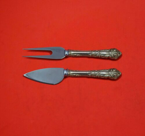 French Renaissance by Reed and Barton Sterling Silver Hard Cheese Set 2pc Custom