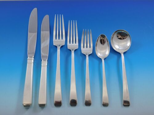 Craftsman by Towle Sterling Silver Flatware Set for 12 Service 86 pieces Dinner