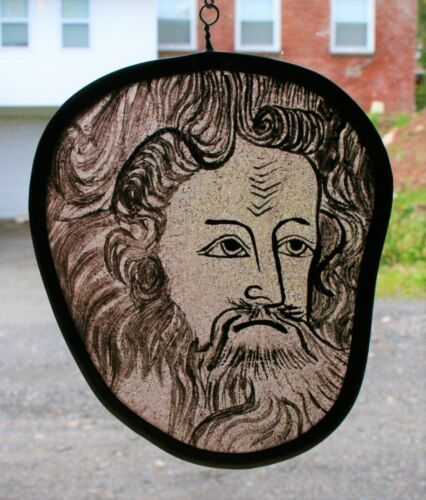 Vintage Stained Glass Head #136