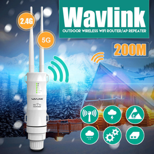 Wavlink AC600 2.4G Wifi Repeater Signal Extender Booster Network 300Mbps Outdoor