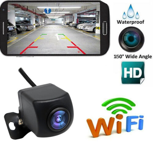 150° WiFi Wireless Car Rear View Cam Backup Reverse Camera For Android IOS A7W6