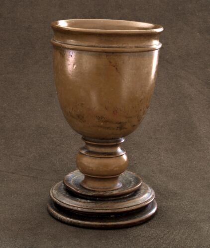 19th Century Boxwood Goblet -Oak Base