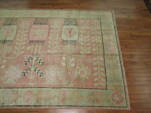 Antique East Turkestan Khotan Rug Size 5'6''X7'7''