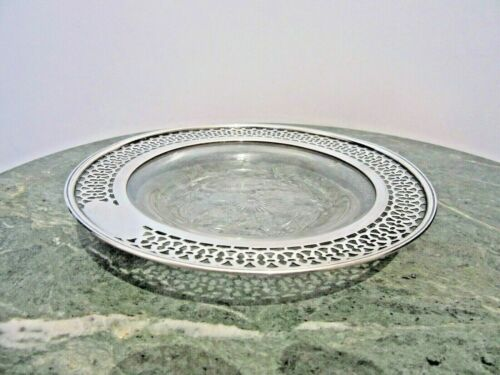 Crystal Based Dish - Sterling Silver Framed -  Made for Tiffany