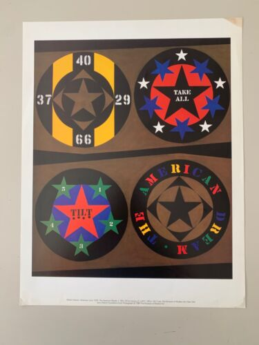 ROBERT INDIANA, THE AMERICAN DREAM,1961,RARE AUTHENTIC 1989 ART POSTER