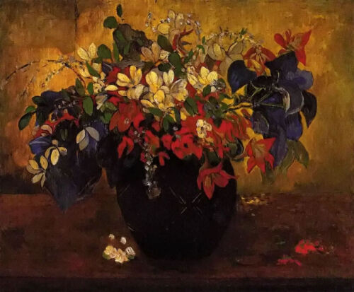 Oil painting paul gauguin - A Vase of Flowers still life hand painted on canvas