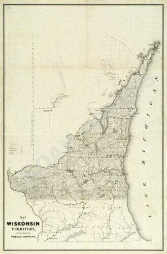 Map of Wisconsin Territory c1839 24x36