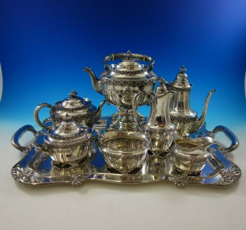 English King by Tiffany and Co Sterling Silver Tea Set 8-Piece (#4811) Fabulous!
