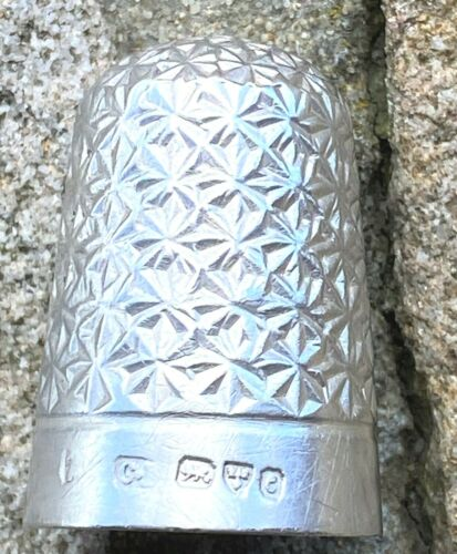 Sterling Silver Thimble - No 7 - Charles Horner - Chester - 1886