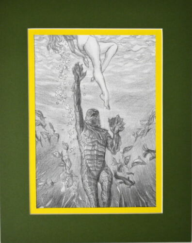 CREATURE From The BLACK LAGOON PRINT PROFESSIONALLY MATTED DC Alex Ross