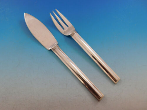 Cannes by Puiforcat France Sterling Silver Flatware Individual Fish Set 2-pc