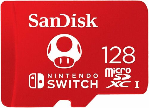 SanDisk Micro SD 128GB SDXC Nintendo Switch Console UHS-I Card up to 100MB/s