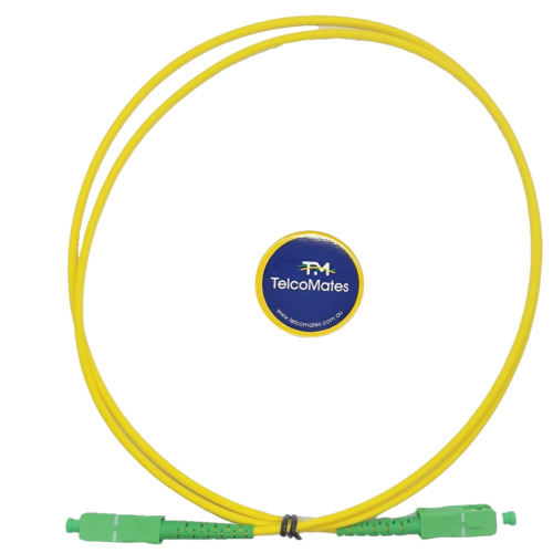 FIBRE OPTIC SC APC -SC APC 3mm 1 M CABLE FOR NBN & TELSTRA