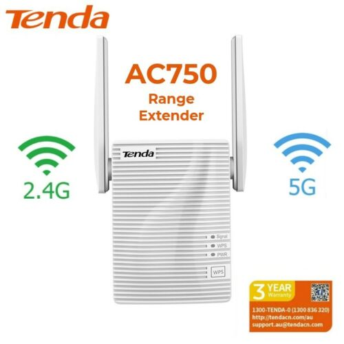 Tenda Dual-Band AC750 WiFi Range Extender Booster 2.4/5Ghz High Power 433 Mbps