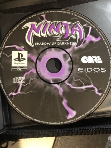 Ninja Shadow of Darkness PS1 Disc Only