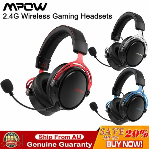 Mpow Air 2.4G Wireless Gaming Headset Over Ear PS4 PC Headphone Noise Cancelling