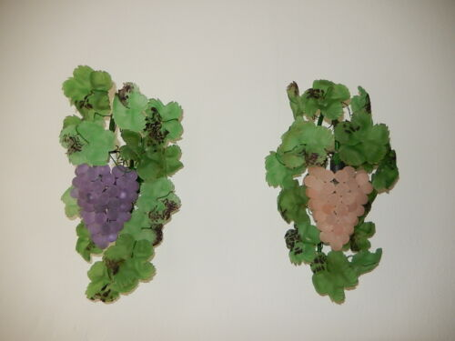 ~1950 Mid Century Murano HUGE Grape Sconces Purple and Pink Extremely Rare Pair~