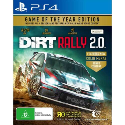 Dirt Rally 2.0 Game Of The Year Edition PS4 Playstation 4 Brand New Sealed