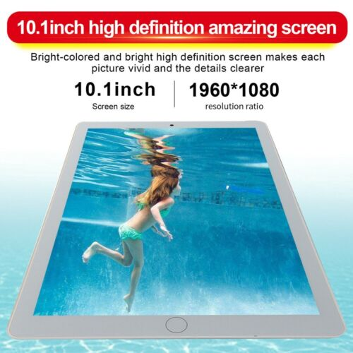 10.1inch 4G-LTE 8+128GB PC Tablet Android 9.0 G-Sensor 2 Camera GPS SIM Phablet