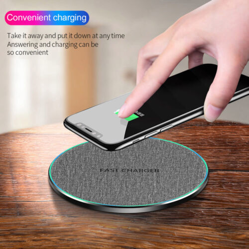 US 15W/10W Charger Qi Wireless Charging Pad Mat For iPhone 12 12Pro 12mini 11 XS