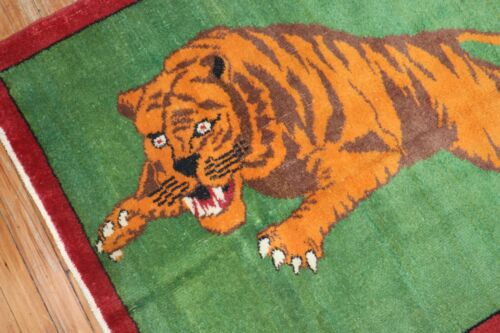 Vintage Turkish Tiger Rug Size 3'3''x3'9''