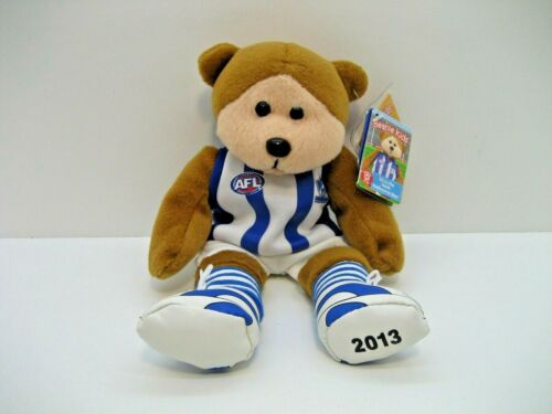 AFL NTH MELB KANGAROOS Beanie Bear 'Stuey' White jersey Official w/tags - NEW!