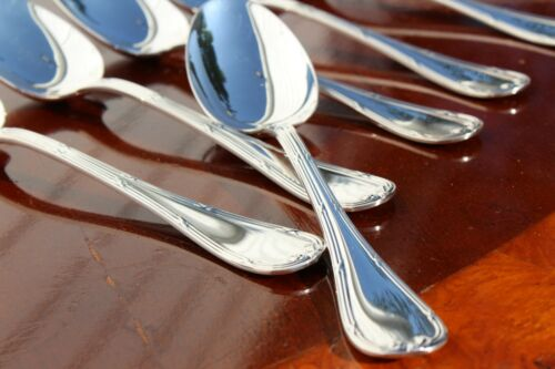 Christofle Rubans Silver Plated Table Spoons Set of Six