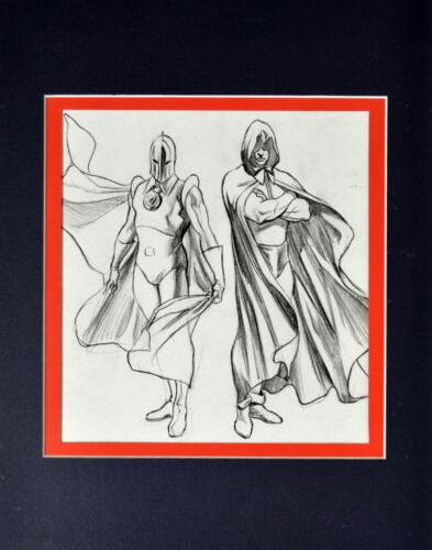 DOCTOR FATE & SPECTRE SKETCH PRINT PROFESSIONALLY MATTED Alex Ross Art