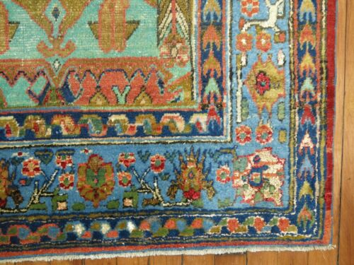 Antique Partial Silk Khotan Rug Size 4'6''x7'5''