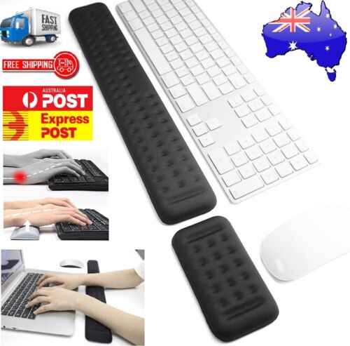 Keyboard and Mouse Wrist Rest Pad Set Memory Foam Ergonomic Hand Palm Support