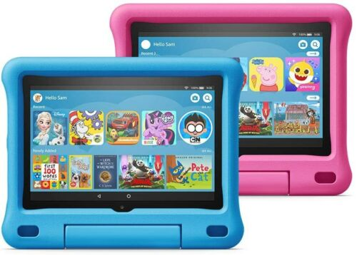 """AMAZON FIRE HD 8 WiFi TABLET 8"""" 32Gb 10th Gen KIDS EDITION BUILT-IN CASE STAND"""