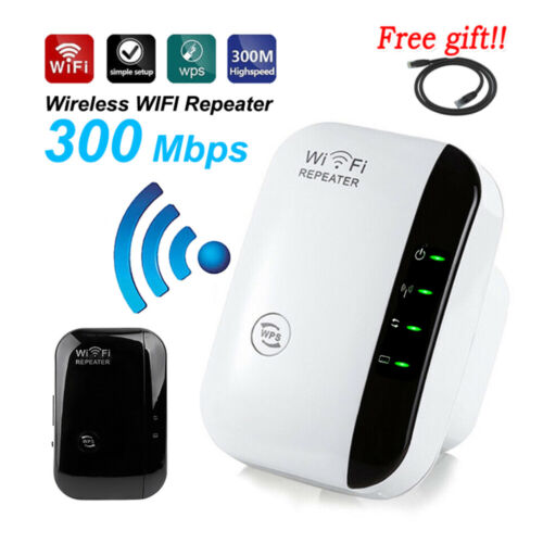 300Mbps Wifi Extender Repeater Range Booster AP Router Wireless-N 802.11 AU Plug