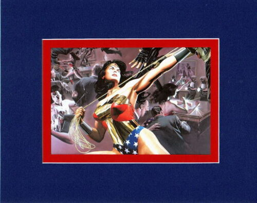 WONDER WOMAN COLLAGE PRINT PROFESSIONALLY MATTED Alex Ross