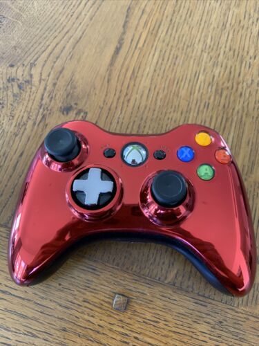 Genuine, Official Microsoft Xbox 360 Wireless Controller (Red)
