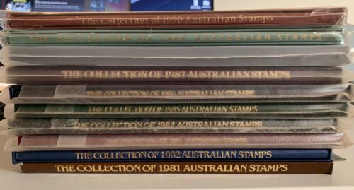 The Collection of Australian Stamps / AuPost Yearbook 1981 - 1990