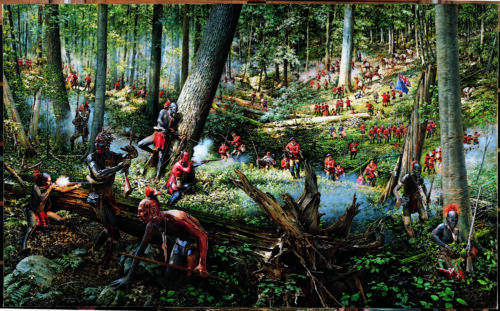 ONE MILE TO BUSHY RUN STATION - ROBERT GRIFFING - INDIAN PRINT - NEWArt Prints - 360